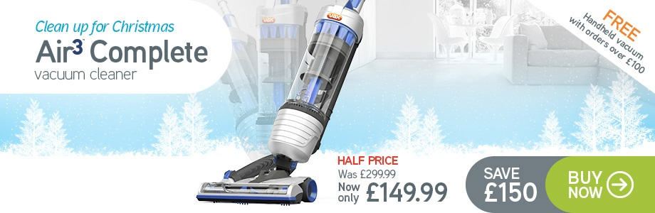 VAX Air3 Complete Upright Vacuum Cleaner - Now Only £149.99 - RRP £299.99